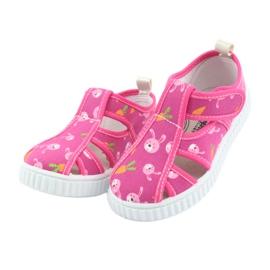 American Club buty dziecięce na rzepy różowe TEN 27/19 3