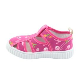 American Club buty dziecięce na rzepy różowe TEN 27/19 2