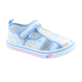 American Club buty dziecięce na rzepy błękitne TEN 27/19 1