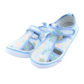 American Club buty dziecięce na rzepy błękitne TEN 27/19 3