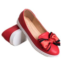 Miss Laura Baleriny Z Kokardką czerwone 6