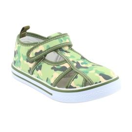 American Club buty dziecięce na rzepy zielone moro TEN 27/19 1
