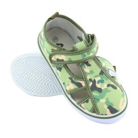 American Club buty dziecięce na rzepy zielone moro TEN 27/19 3