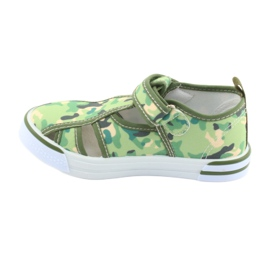 American Club buty dziecięce na rzepy zielone moro TEN 27/19 2