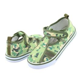 American Club buty dziecięce na rzepy zielone moro TEN 27/19 4