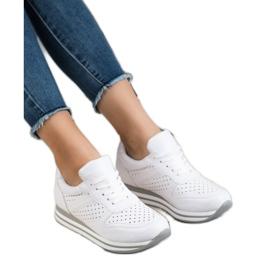 Kylie Buty Sportowe Z Eko Skóry białe 2