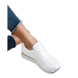 Kylie Buty Sportowe Z Eko Skóry białe 4