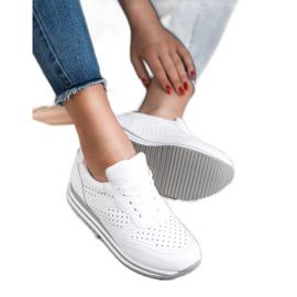 Kylie Buty Sportowe Z Eko Skóry białe 3