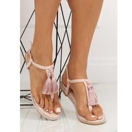 Sandałki japonki różowe 7263 Pink 4