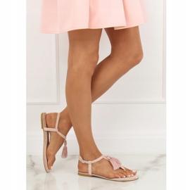 Sandałki japonki różowe 7263 Pink 1