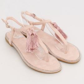 Sandałki japonki różowe 7263 Pink 2