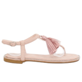 Sandałki japonki różowe 7263 Pink 3