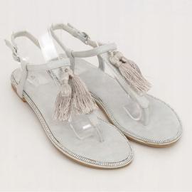Sandałki japonki szare 7263 Grey 2