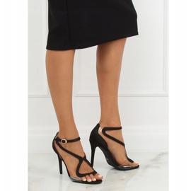 Sandałki na szpilce czarne 1442 Black 3