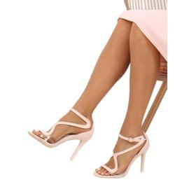 Sandałki na szpilce różowe 1442 Pink 1