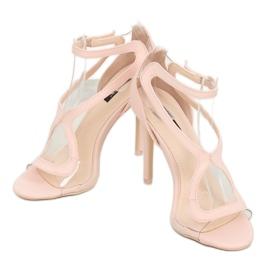 Sandałki na szpilce różowe 1442 Pink 3