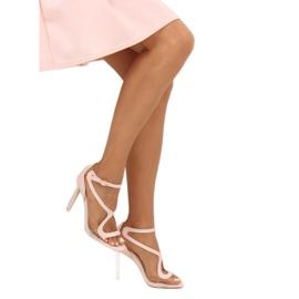Sandałki na szpilce różowe 1442 Pink 2