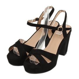 Sandałki na platformie czarne JC15017 Black 2