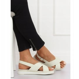 Sandałki damskie białe 1495 White 1