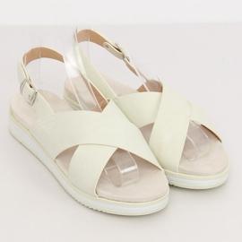 Sandałki damskie białe 1495 White 3