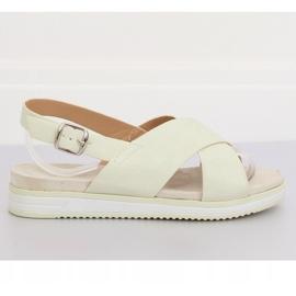 Sandałki damskie białe 1495 White 2