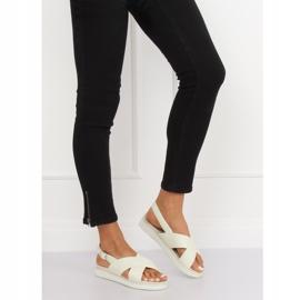 Sandałki damskie białe 1495 White 4