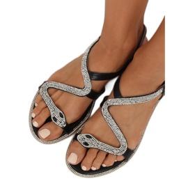 Sandałki z wężem czarne H560 Black 3