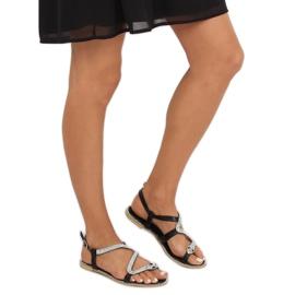 Sandałki z wężem czarne H560 Black 1