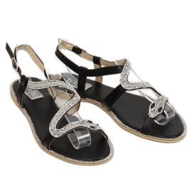 Sandałki z wężem czarne H560 Black 2