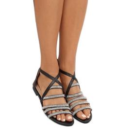 Sandałki damskie czarne LL6339 Black 2
