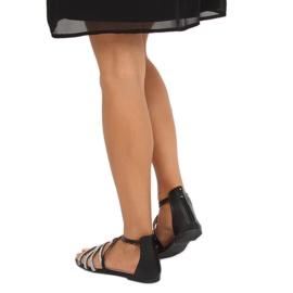 Sandałki damskie czarne LL6339 Black 1