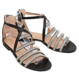 Sandałki damskie czarne LL6339 Black 3