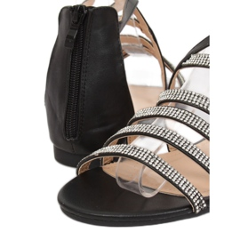 Sandałki damskie czarne LL6339 Black 4