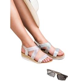 Bello Star Wsuwane Sandały Espadryle szare 4