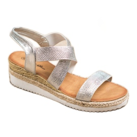 Bello Star Wsuwane Sandały Espadryle szare 1