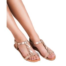 Mannika Różowe Płaskie Sandały 1