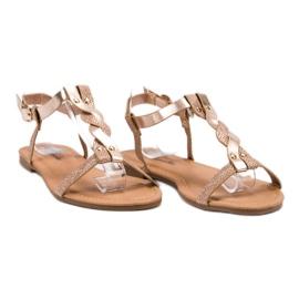 Mannika Różowe Płaskie Sandały 2