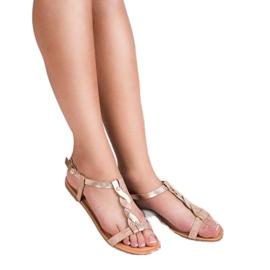 Mannika Różowe Płaskie Sandały 3