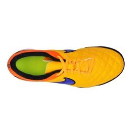 Buty piłkarskie Nike Tiempo Rio Ii Tf Jr 631524-858 żółty, pomarańczowy pomarańczowe 1