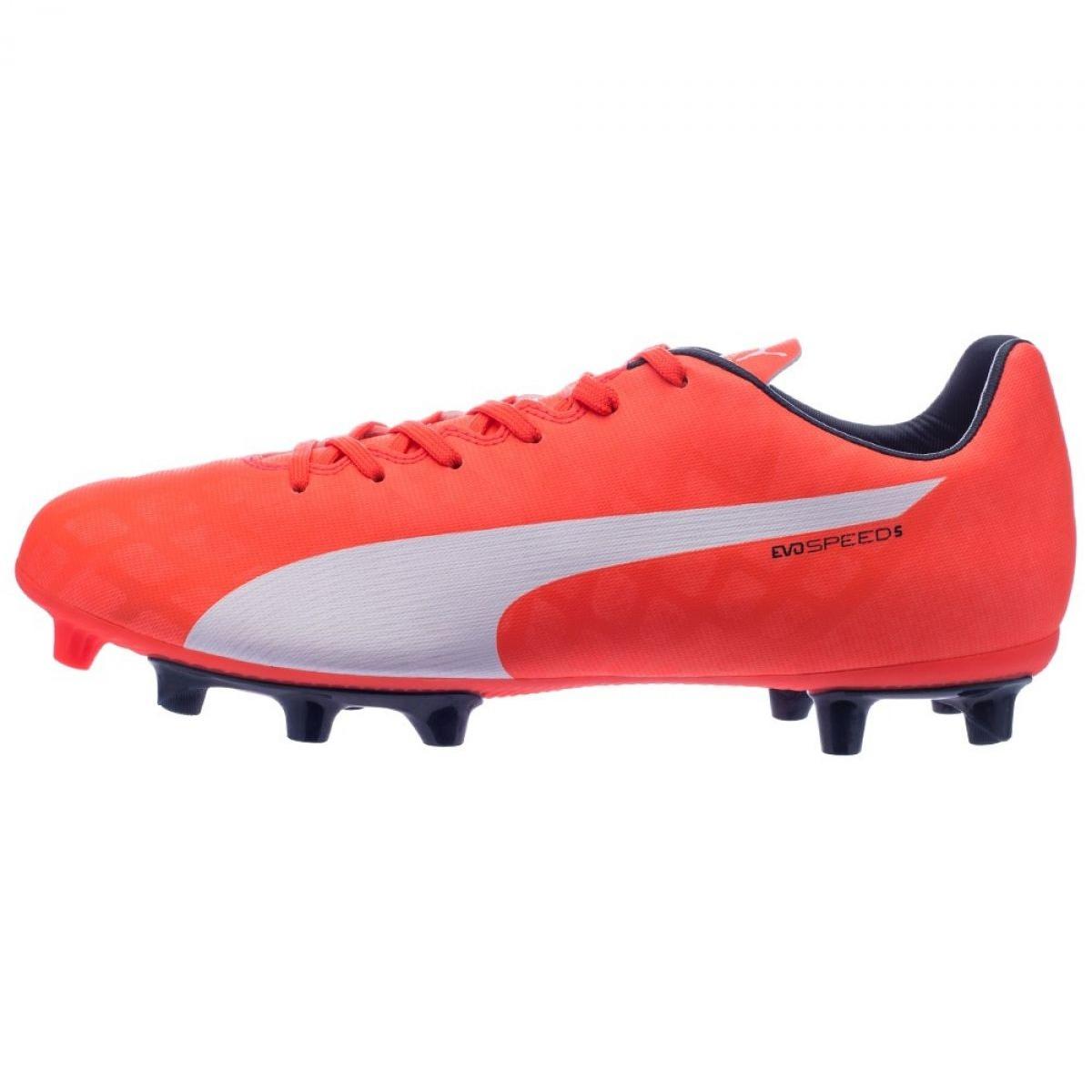 Buty piłkarskie Puma evoSPEED 5.4 Fg M 10328601 czerwony czerwone