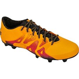 Buty piłkarskie adidas X 15.3 FG/AG M S74632 pomarańczowe wielokolorowe 2