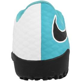 Buty piłkarskie Nike HypervenomX Phelon Iii Tf Jr 852598-104 biały, niebieski niebieskie 2