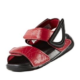Sandały adidas Spider Man AltaSwim Jr BY2610 czarne czerwone 3