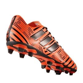Buty piłkarskie adidas Nemeziz 17.4 FxG M S80610 pomarańczowe pomarańczowe 1