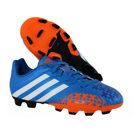 Buty piłkarskie adidas Predito Lz Fg Junior Q21735 niebieskie niebieskie 1
