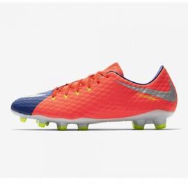 Buty piłkarskie Nike Hypervenom Phelon Iii Fg M 852556-409 pomarańczowe czarny, fioletowy, pomarańczowy 1