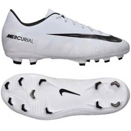Buty piłkarskie Nike Mercurial Victory Vi CR7 Fg Jr 852489-401 białe 3
