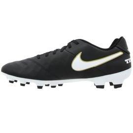 Buty piłkarskie Nike Tiempo Genio Ii Leather Fg M 819213-010 czarne czarne 1
