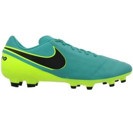 Buty piłkarskie Nike Tiempo Genio Ii Fg M 819213-307 czarne niebieskie 1