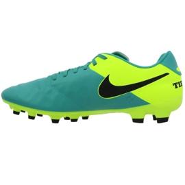 Buty piłkarskie Nike Tiempo Genio Ii Fg M 819213-307 czarne turkusowy 1